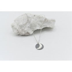 Moon necklace with chain