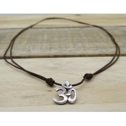 Om pendant in silver dark...